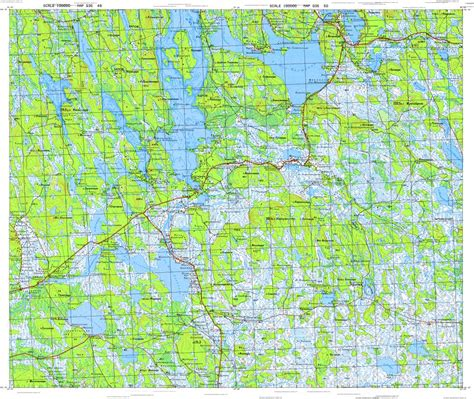 N066 A topographic map in area of kivilompolo mapstor