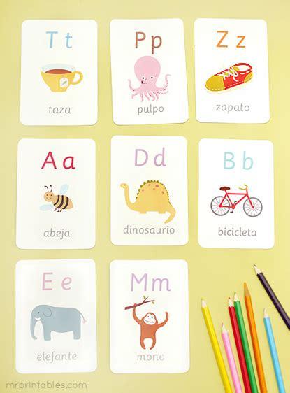 libro alphabet flash kids spanish spanish alphabet flash cards mr printables