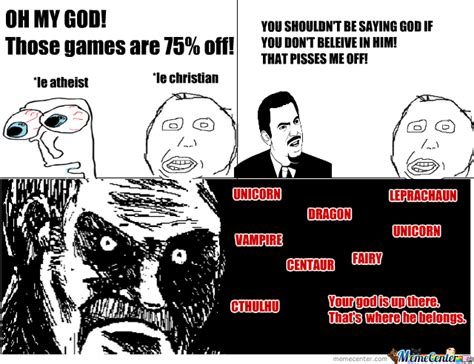 Atheist Vs Christian Meme - atheism for the win by pwnsalot25 meme center