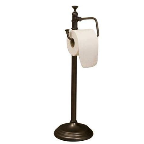 best free standing toilet paper holder barclay products marvin freestanding toilet paper holder in rubbed bronze iftph2060 orb