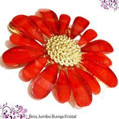 Bros Jumbo Kerici Merah aksesoris trendy 187 bros 187 bros bunga pita paket isi 6 aksesoris trendy termurah toko