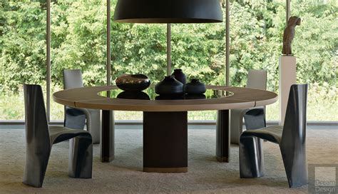 table with lazy susan giorgetti gordon table with lazy susan by roberto
