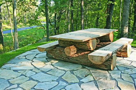 rustic picnic bench rustic locust picnic table custom made to your