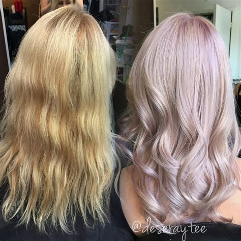 toning hair transformation pretty in pale lavender pink career