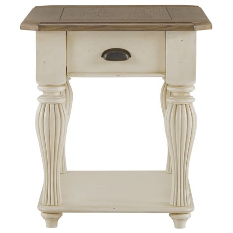 two tone end tables city furniture coventry two tone large end table