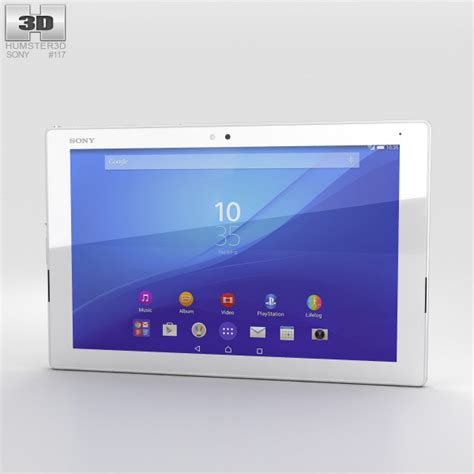 Sony Xperia Tablet Z Lte Di Malaysia sony xperia z4 tablet lte white 3d model hum3d