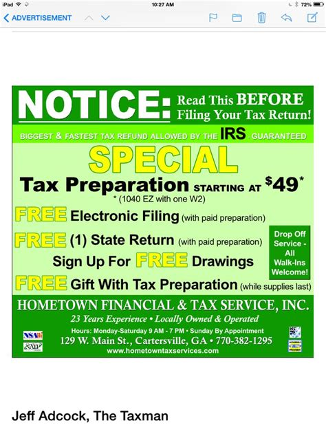 tax preparation 7 best accounting and tax preparation postcard sles