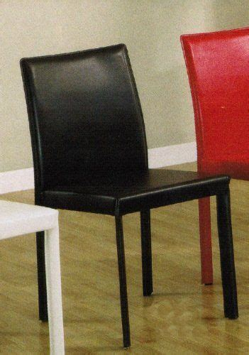 Set Of 4 Dining Metal Chairs Chocolate Leather Like By Leather And Metal Dining Chairs