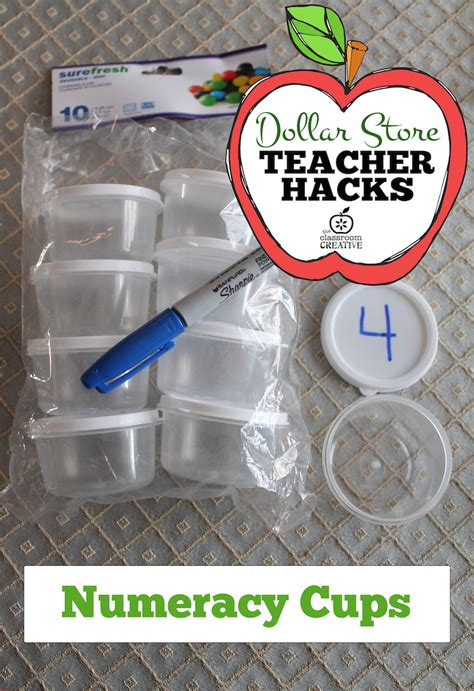 dollar tree hacks dollar store teacher hack numeracy cups