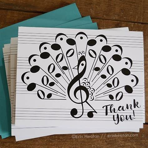 printable birthday cards music peacock music note thank you card musician thank you
