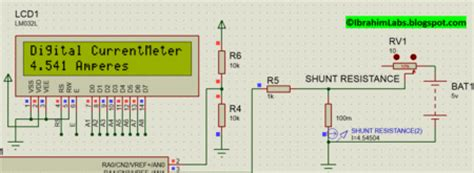 variable resistor proteus simple digital current meter dcm using pic microcontroller schematic code proteus simulation