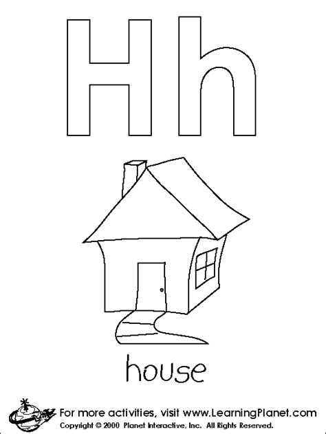 letter h coloring pages for toddlers free coloring pages of large letter h