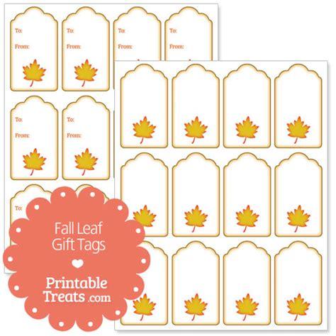 printable autumn name tags fall leaf gift tags printable treats com