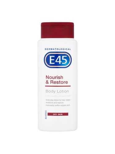 tattoo moisturiser e45 e45 dermatological nourish restore body lotion dry skin