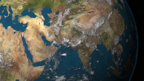 middle east map high res a rotating earth focusing on the middle east hd stock