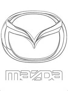 mazda coloring page pages sketch template