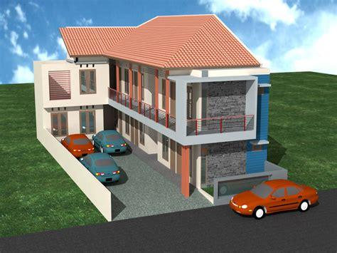 desain rumah kost mahasiswa  karyawan tren