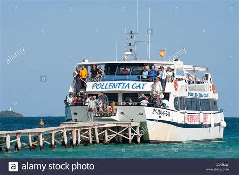 boat trip alcudia holidaymakers aboard the glass bottomed pollentia cat