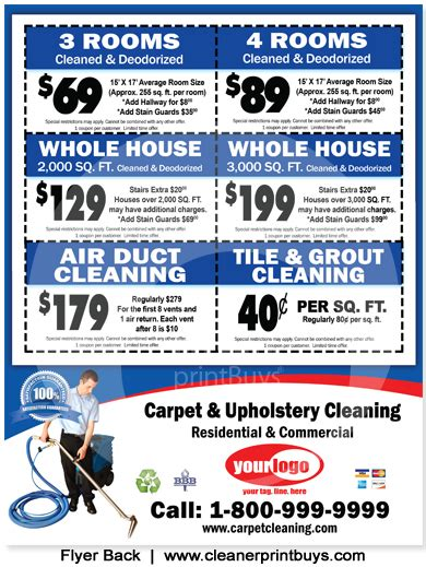 Carpet Cleaning Flyer 8 5 X 11 C0006 Carpet Cleaning Postcards Templates