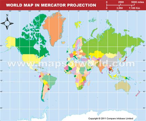 mercator map projection draw grid map in visual basic 6