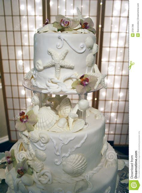 Sea Shell Wedding Cake Royalty Free Stock Image   Image