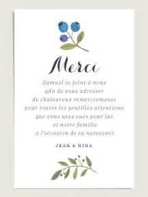Modèle De Lettre De Remerciement Pour Un Mariage Cartes De Remerciement Assorties Aux Faire Part De Naissance Blueberries Illustr 233 224 L Aquarelle