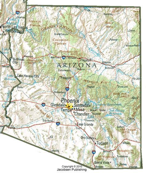 arizona highway conditions map az shaded relief map fullscreen