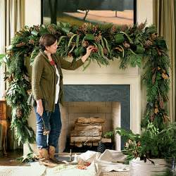 christmas decoration lush mantel swag holiday mantel