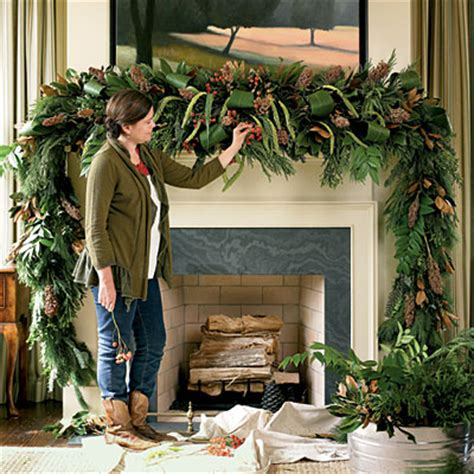 mantle swags decoration lush mantel swag mantel decorating ideas southern living