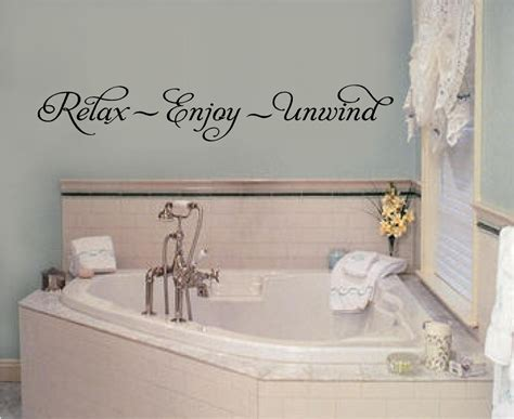 wall decals for bathroom relax enjoy unwind vinyl wall decal stickers letters