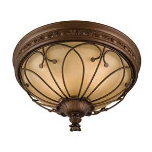 Lowes Kitchen Ceiling Lights Allen Roth Bronze Ceiling Flush Mount Lowe S Canada