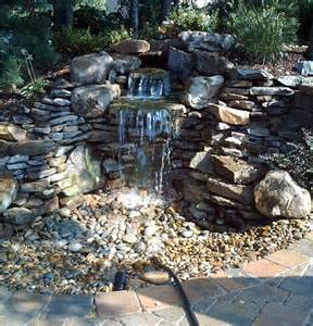 Rock Garden Waterfall Rock Waterfall Garden Outdoors