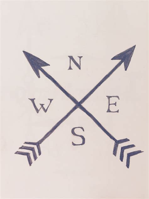 arrow compass tattoo idea crossed arrows arrow tatto nesw directions
