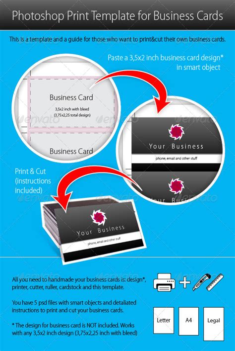 Business Card Printing Template Photoshop photoshop print template for business cards graphicriver