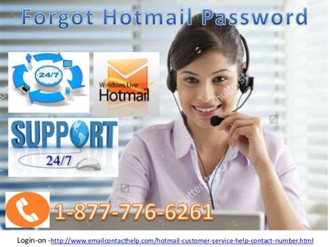 for forgot hotmail password call 1 877 776 6261 for