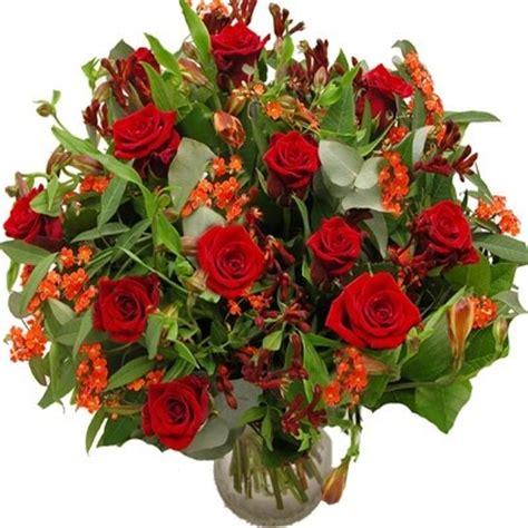afbeeldingen verjaardag bos bloemen rood boeket bloemen