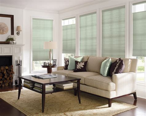 Blinds For Living Room levolor accordia 9 16 quot designer single cell from blinds traditional living room by