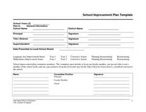 School Improvement Plan Template by Best Photos Of Budge Of For School Improvement Plan