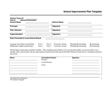 school improvement plan template best photos of budge of for school improvement plan