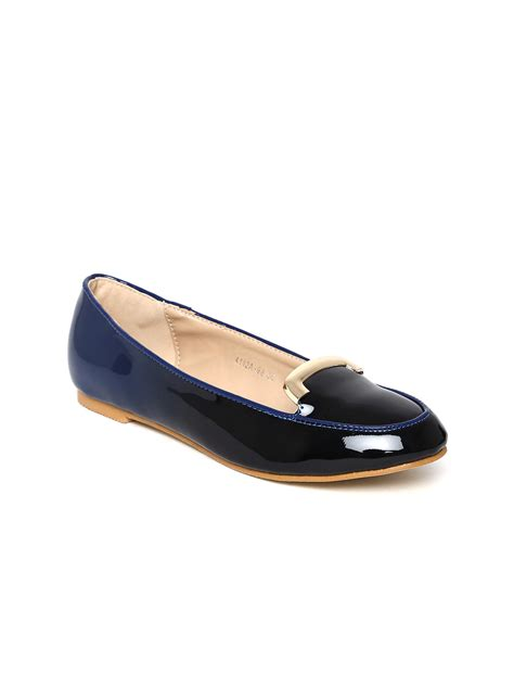 navy flat shoes womens myntra dressberry navy flat shoes 648644 buy