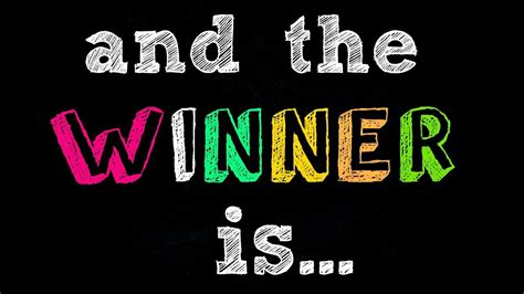 is the and the winner is my giveaway winner announced 2017