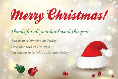 company christmas party invitation signazon