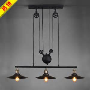 light fixture lift loft american country can lift light industrial vintage