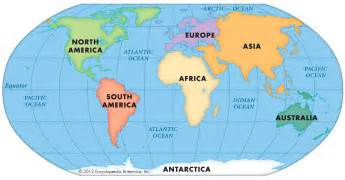 Labeled Map Of Continents And Oceans » Home Design 2017