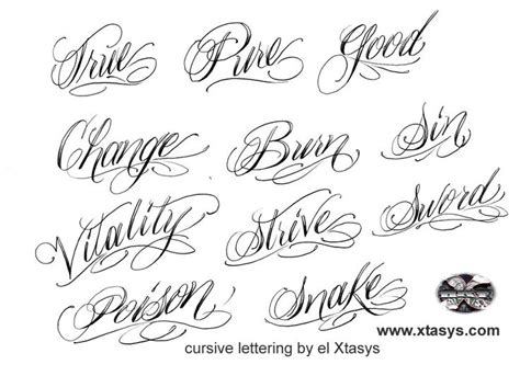 tattoo name fonts script lettering letters font