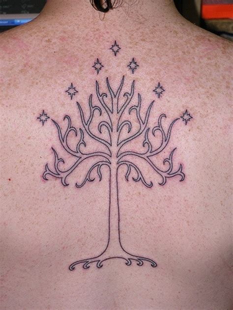 white tree of gondor tattoo 25 mystic lord of the rings tattoos