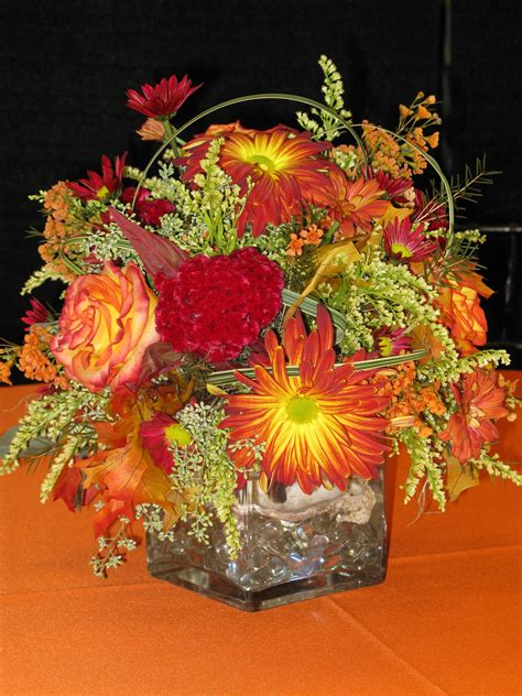 fall arrangement in square vase williamsburg floral