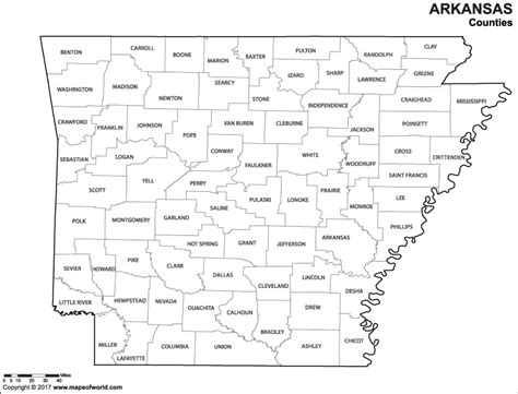 arkansas on map of usa black and white arkansas county map for to color