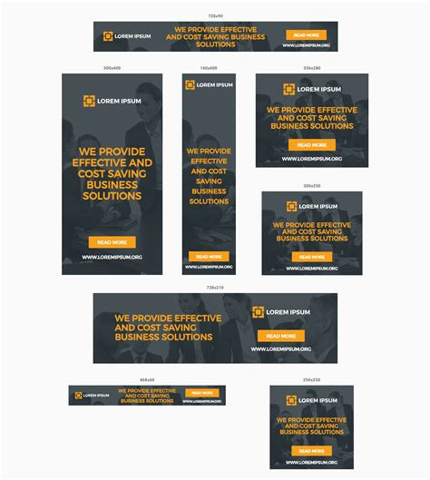 Multipurpose Business Ads Animated Html5 Google Banner Templates Adwords And Doubleclick By Y N Adwords Ad Template