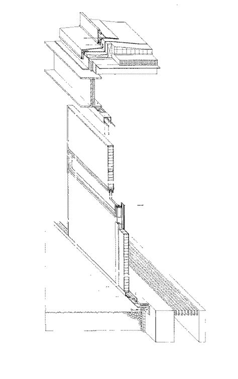 roof deck plan foundation facade roof foundation detail